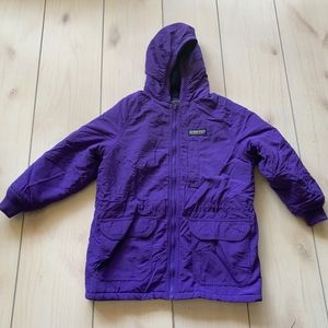 girls L lands end winter jacket purple